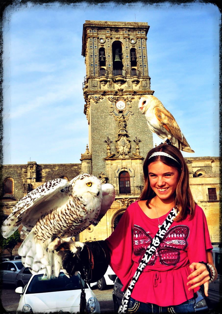 Reka with owls