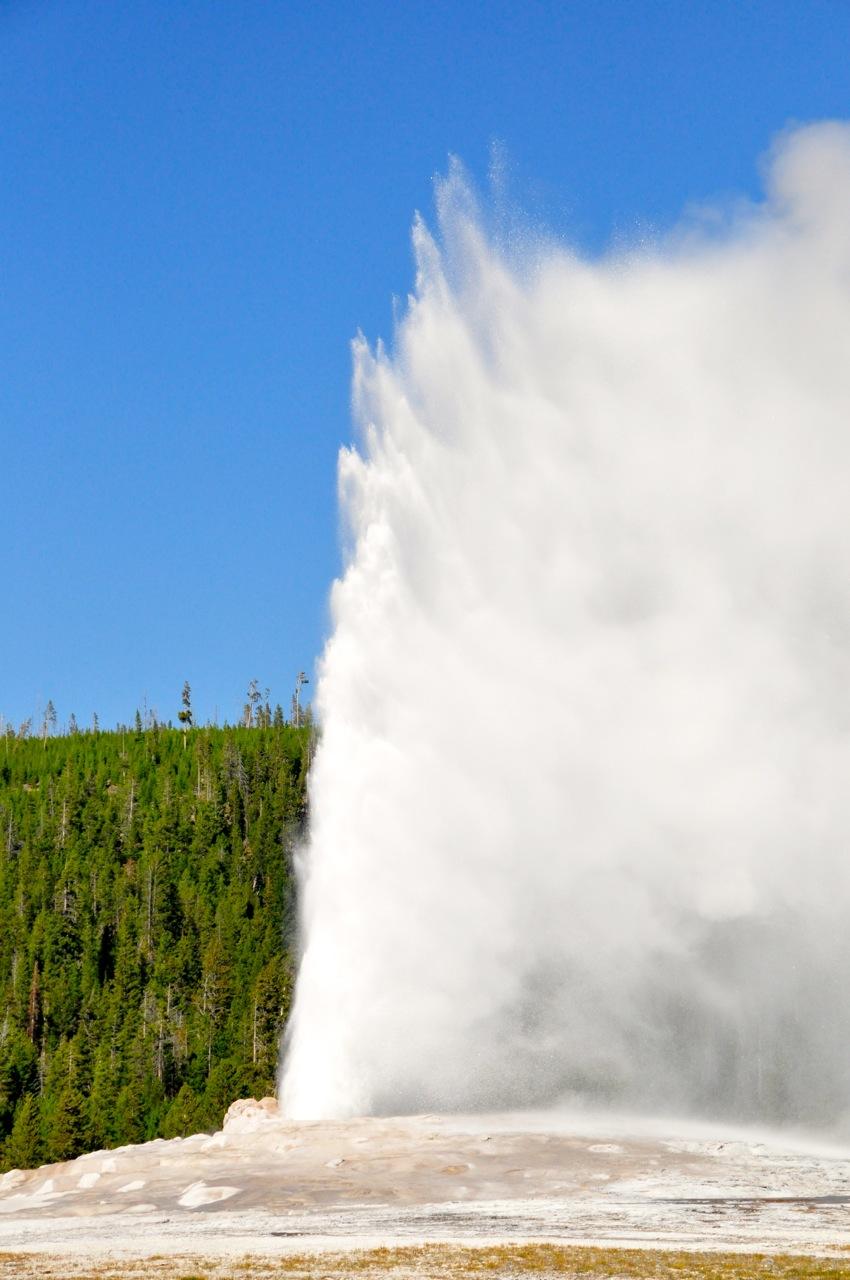 Old Faithful in Yellowstone NP Montana