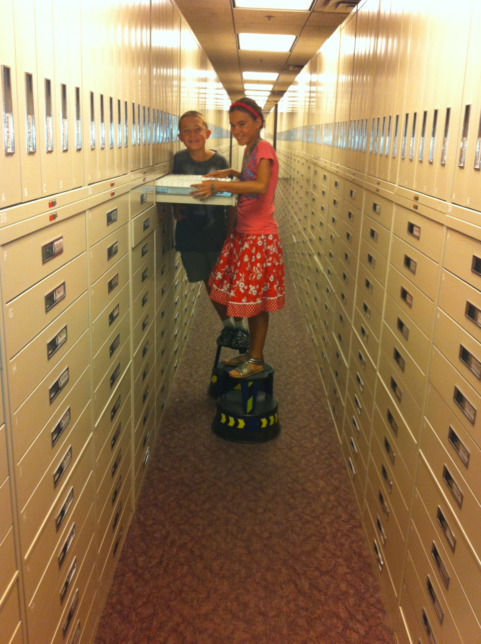 Researching at the Mormon Geneological Library in Salt Lake City