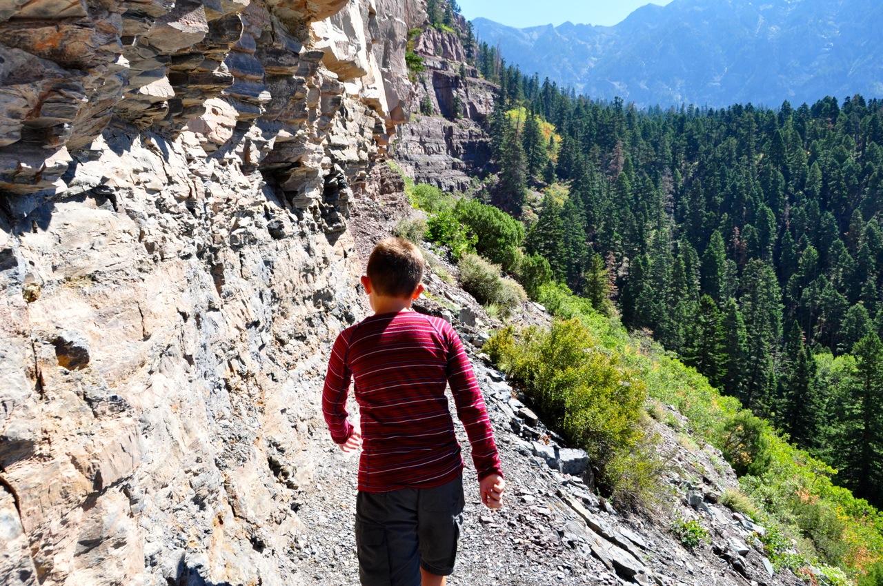 Hiking near Ouray Colorado
