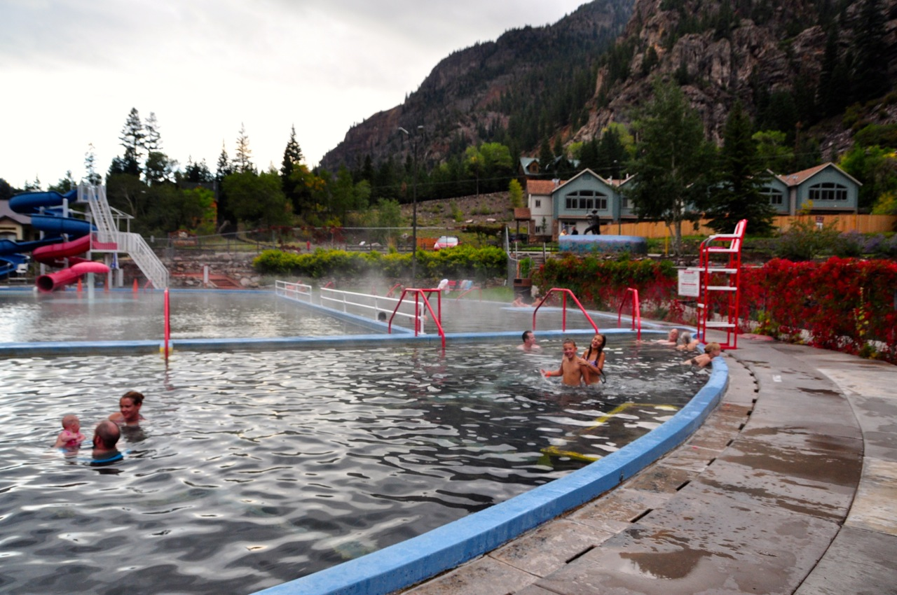 Swimming in Ouray Hot Springs