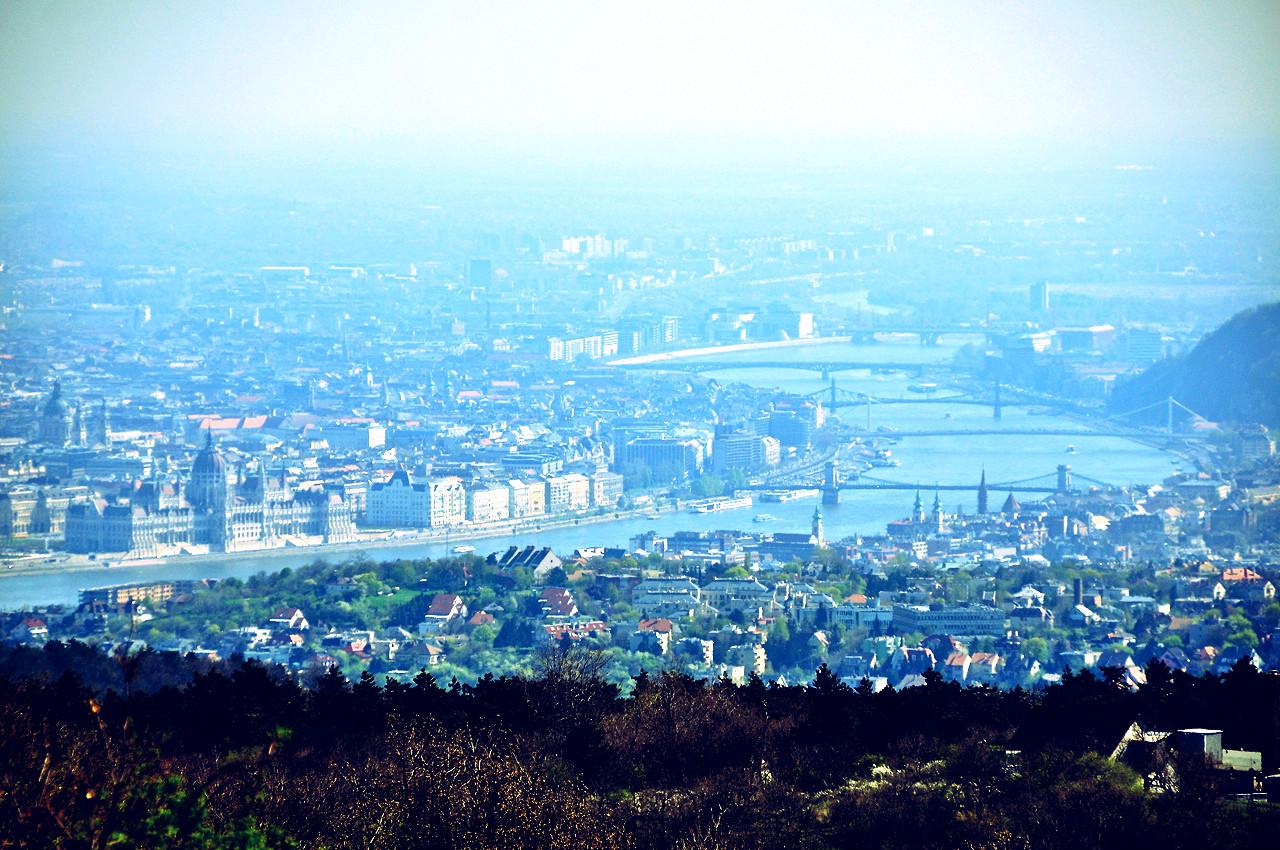 Budapest from Fenyogyongye