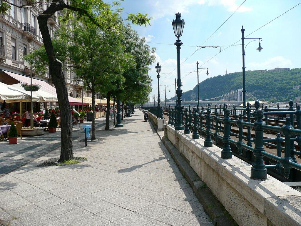 Promenade walking Budapest