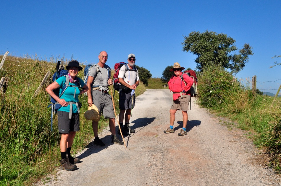 Aussie friends on The Camino: (from left to right) MEG, BOB, MARK & JULIE