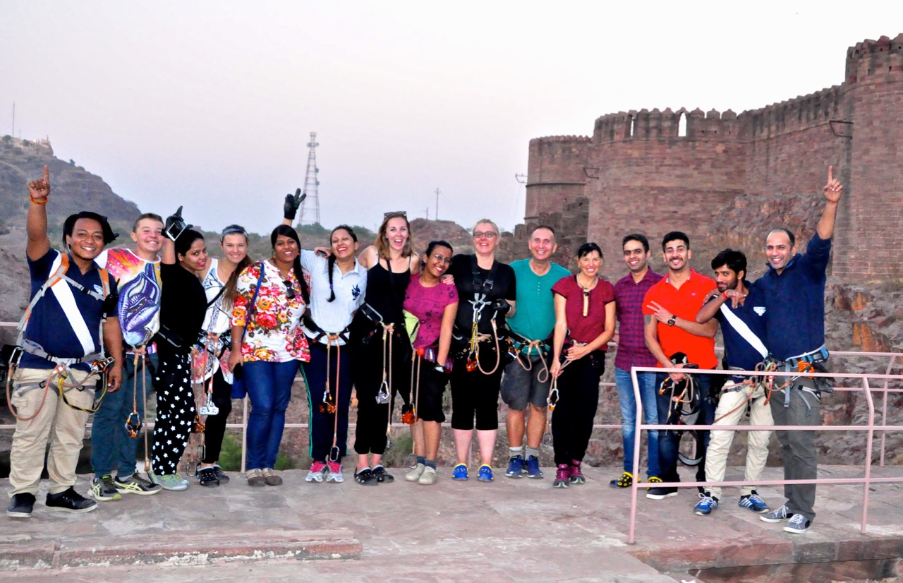 Our Flying Fox Team, Jodhpur INDIA