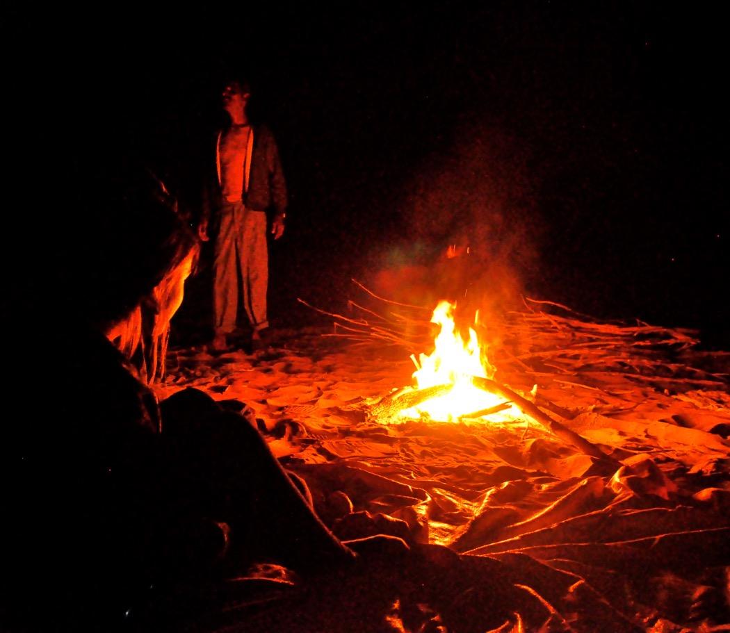Campfire in Thar Desert