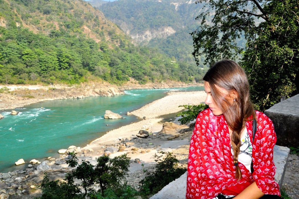 Rishikesh Reka looking on Ganga