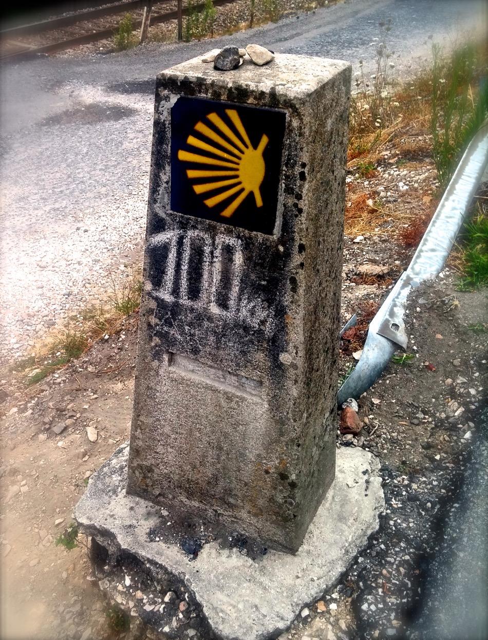 Camino 100km marker