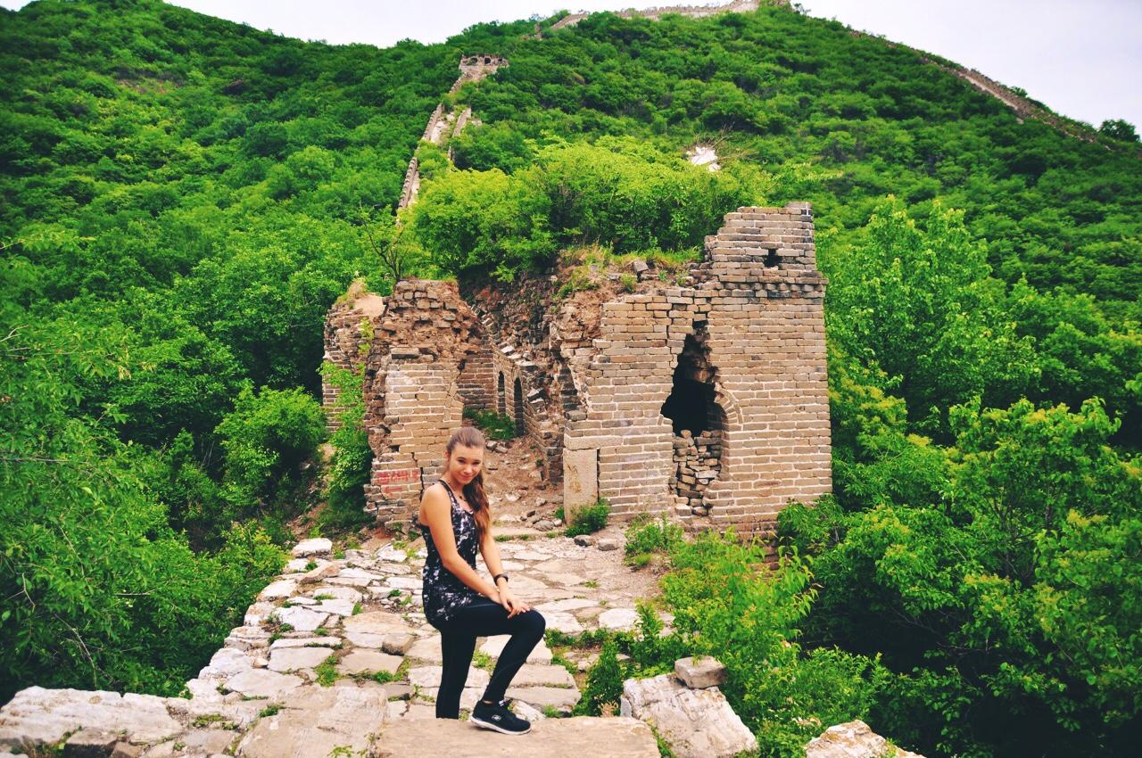 Reka Kaponay Hiking The Great Wall of China