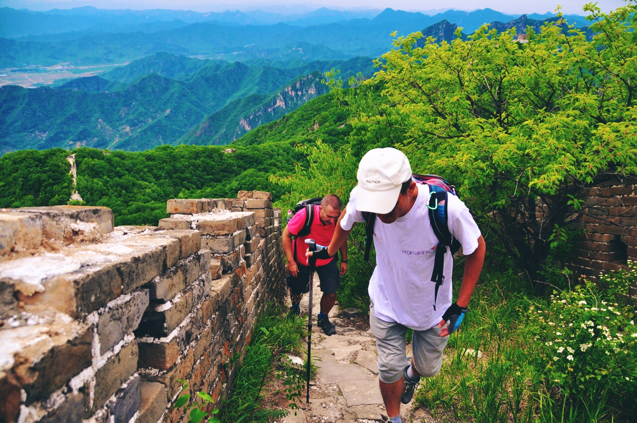 Guide Cheney on Great Wall Hiking