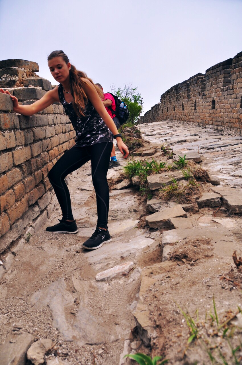 Slippery Descent on The Great Wall