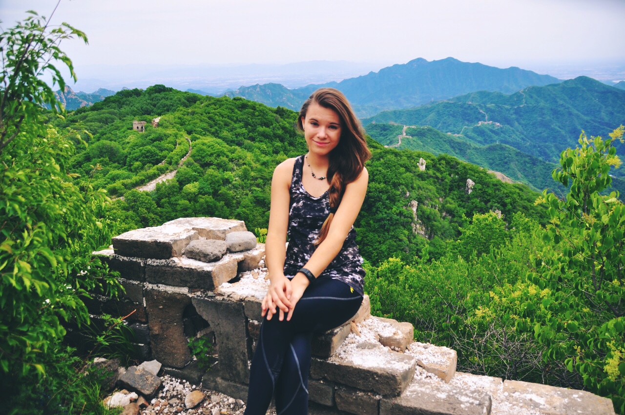 Reka at The Great Wall of China
