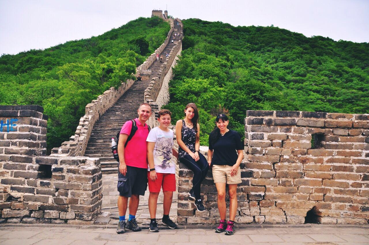 Family at The Great Wall of China Mutianyu