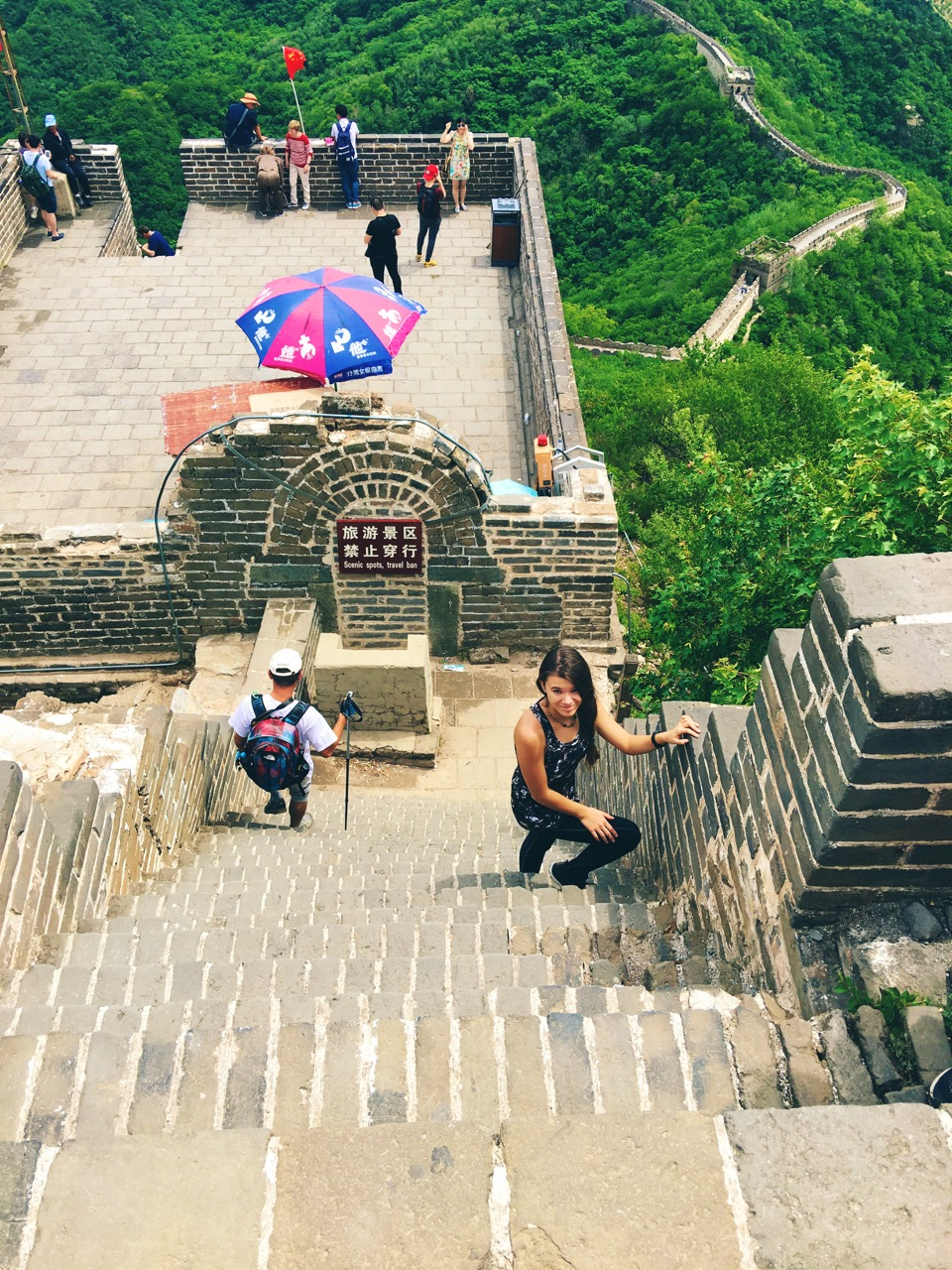 Reka at Great Wall Hiking