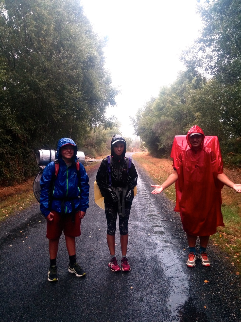 Rainy day on the Camino_Poncho